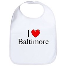 """I Love Baltimore"" Bib"