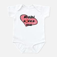 rubi loves me  Infant Bodysuit