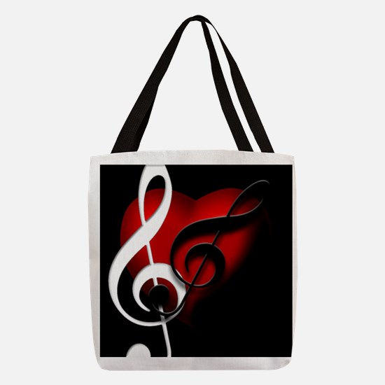 HeartandClefs.jpg Polyester Tote Bag