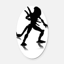 Alien Oval Car Magnet