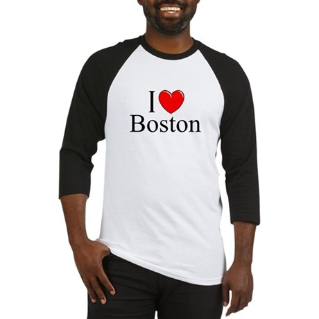 """I Love Boston"" Baseball Jersey"