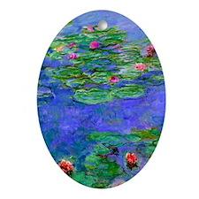 J Monet WLRed Oval Ornament