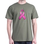 Hot Pink Awareness Ribbon Dark T-Shirt