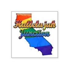"""Hallelujah Junction Square Sticker 3"""" x 3"""""""