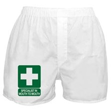 Specialist in mouth to mouth Boxer Shorts