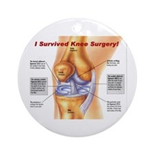 Knee Surgery Gift 11 Ornament (Round)