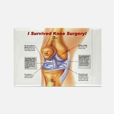 Knee Surgery Gift 11 Rectangle Magnet