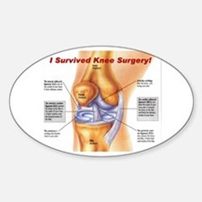 Knee Surgery Gift 11 Oval Decal