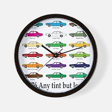 any tint but lemon Wall Clock