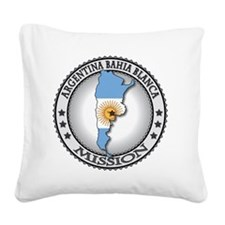 Argentina Bahia Blanca LDS Mi Square Canvas Pillow