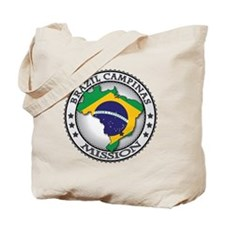 Brazil Campinas LDS Mission Flag Cutout M Tote Bag