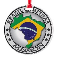 Brazil Campinas LDS Mission Flag Cu Ornament