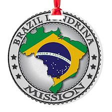 Brazil Londrina LDS Mission Flag Cu Ornament
