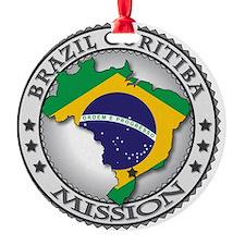 Brazil Curitiba LDS Mission Flag Cu Ornament