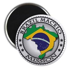 Brazil Maceio LDS Mission Flag Cutout Map Magnet