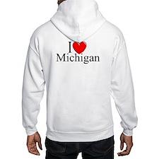 """I Love Michigan"" Hoodie"
