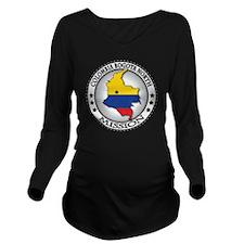 Colombia Bogota Nort Long Sleeve Maternity T-Shirt