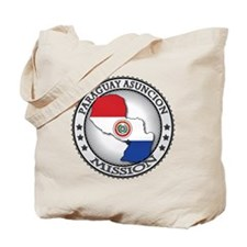 Paraguay Asuncion LDS Mission Flag Cutout Tote Bag