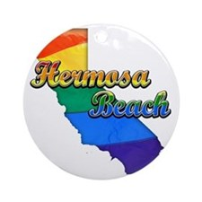 Hermosa Beach Round Ornament