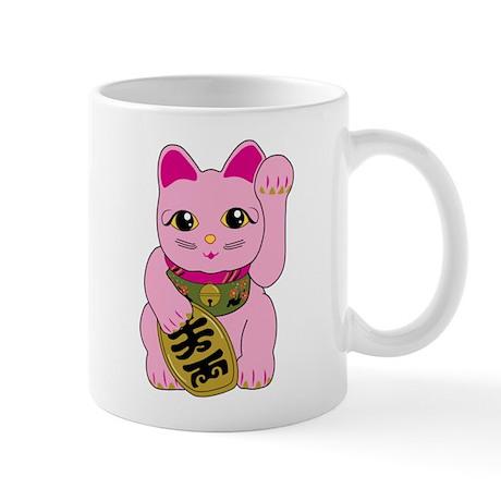 Pink Maneki Neko Mug