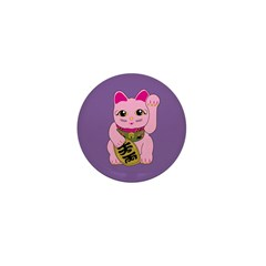 Pink Maneki Neko Mini Button (100 pack)