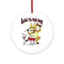 Rockin Reindeer Ornament (Round)