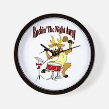 Rockin Reindeer Wall Clock