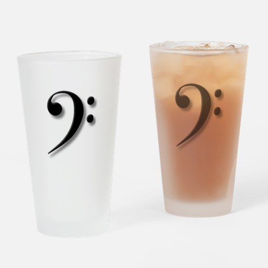 Bass Clef by Leslie Harlow Drinking Glass