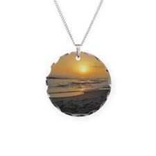 Florida Sunset-5-j Necklace Circle Charm