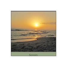 "Florida Sunset-5-j Square Sticker 3"" x 3"""