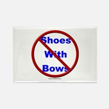 No Women's Small Shoes With Bows Rectangle Magnet