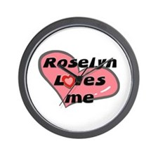 roselyn loves me  Wall Clock