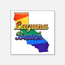 "Laguna Beach Square Sticker 3"" x 3"""