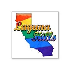 "Laguna Hills Square Sticker 3"" x 3"""