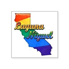 "Laguna Niguel Square Sticker 3"" x 3"""