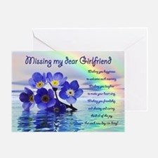 Missing you card for girlfriend with forget me not