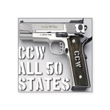 "ccw_all_50_states_master02 Square Sticker 3"" x 3"""