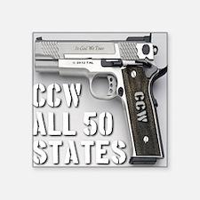 "ccw_all_50_states_master02 Square Sticker 3"" x 3"""