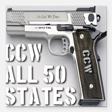 "ccw_all_50_states_master Square Car Magnet 3"" x 3"""