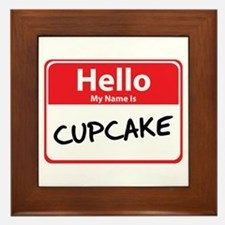 Hello My Name is Cupcake Framed Tile