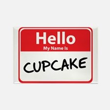 Hello My Name is Cupcake Rectangle Magnet
