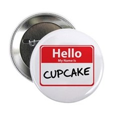 Hello My Name is Cupcake Button