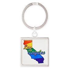 Los Angeles Square Keychain