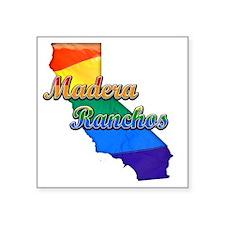 "Madera Ranchos Square Sticker 3"" x 3"""