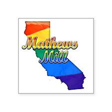 "Mathews Mill Square Sticker 3"" x 3"""