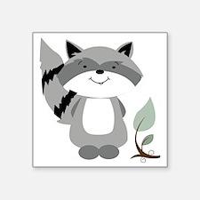 "Raccoon Square Sticker 3"" x 3"""