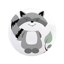 "Raccoon 3.5"" Button"