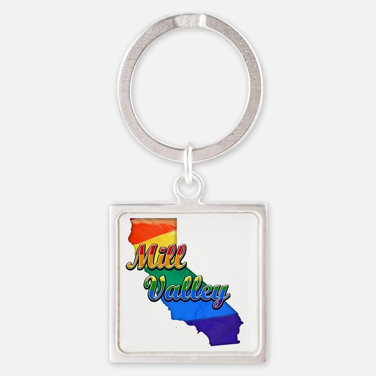Mill Valley Square Keychain