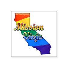 """Mission Viejo Square Sticker 3"""" x 3"""""""