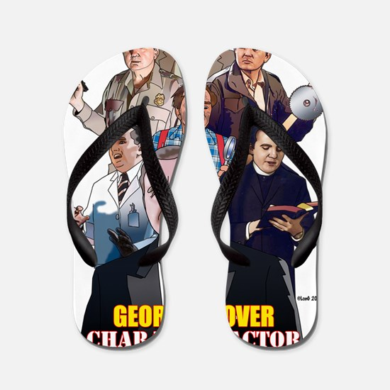 George t-shirt Flip Flops